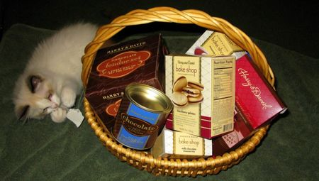 Harry and David gift basket full