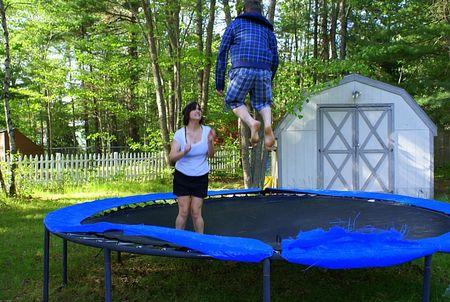 Zack catching major air on tramp UTO