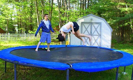 Meg flipping on tramp 1 UTO